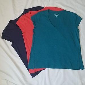 Lot of 3 Loft Vintage Soft tshirts, size medium.